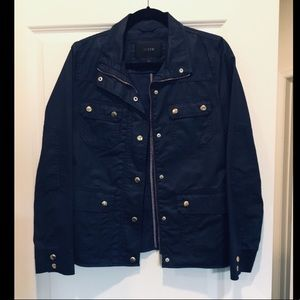 Like new J.Crew Navy Blue Jacket With Gold
